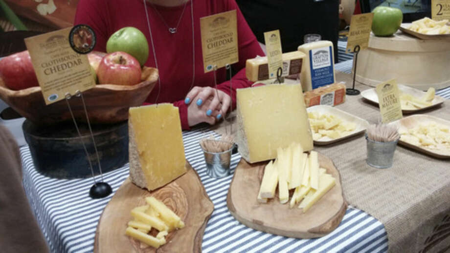 Photo by Frank WhitmanGrafton Village Cheddar at the Fancy Food Show at New York's Javits Center.