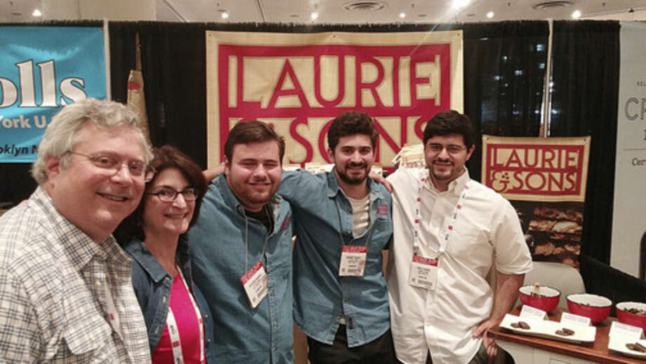 Photo by Frank WhitmanLauren and Sons at the Fancy Food Show at New York's Javits Center.