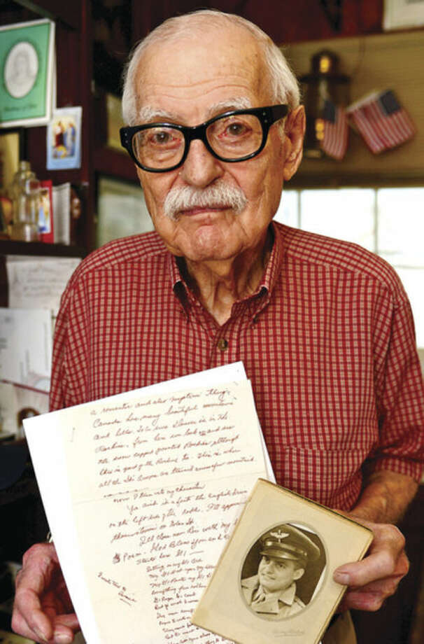 Hour photo / Erik Trautmann Joseph Errico is 89 and has a collection of poems he wrote during World War II.