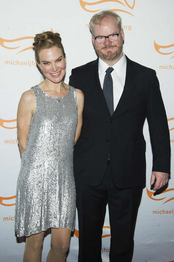 """FILE - In this Nov. 22, 2014 file photo, Jeannie Noth, left, and Jim Gaffigan attend The Michael J. Fox Foundation for Parkinson's Research benefit, """"A Funny Thing Happened on the Way to Cure Parkinson's,"""" in New York. Gaffigan stars in the new comedy series, """"The Jim Gaffigan Show,"""" premiering Wednesday, July 15, at 10 p.m. EDT on TV Land. (Photo by Charles Sykes/Invision/AP, File)"""