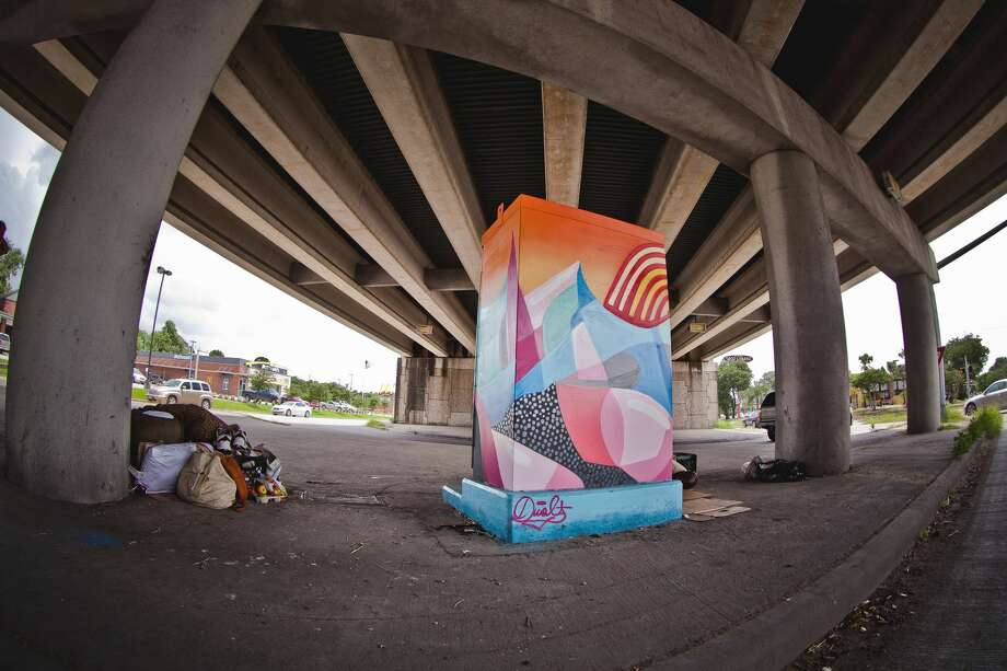 Location: West Bellfort @ South Post Oak Artist: Dual Photo: Morris Malakoff / UP Art Studio