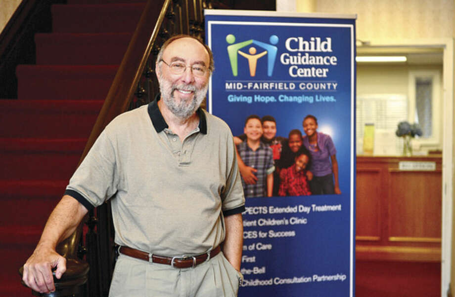 Hour photo / Erik Trautmann Stuart Greenbaum, M.A., MSW, Executive Director of Child Guidance Center of Mid-Fairfield County, will be retiring on July 31 after 29 years.