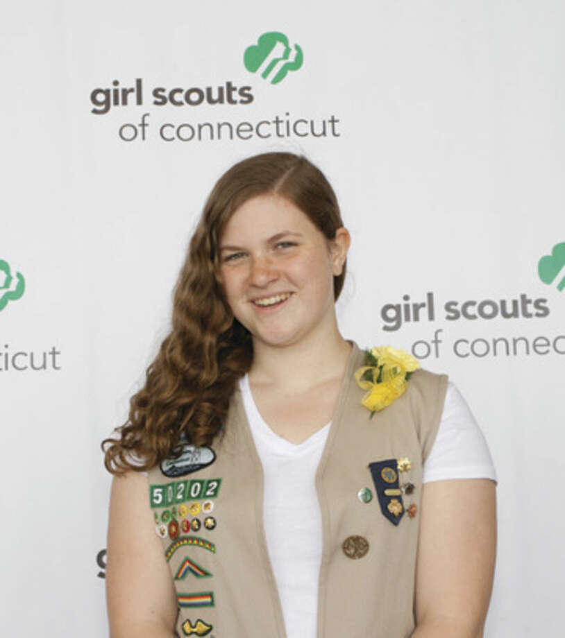 Contributed photoBridget Smith recently received the Girl Scouts highest honor for an emergency preparedness exhibit at Stepping Stones Museum for Children.