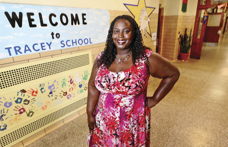 Hour photo / Erik TrautmannTheresa Rangel, the new principal of Tracey Elementary School.
