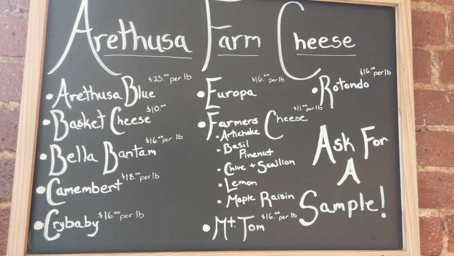 Photo by Frank WhitmanThe cheese selection at Arethusa Farm.