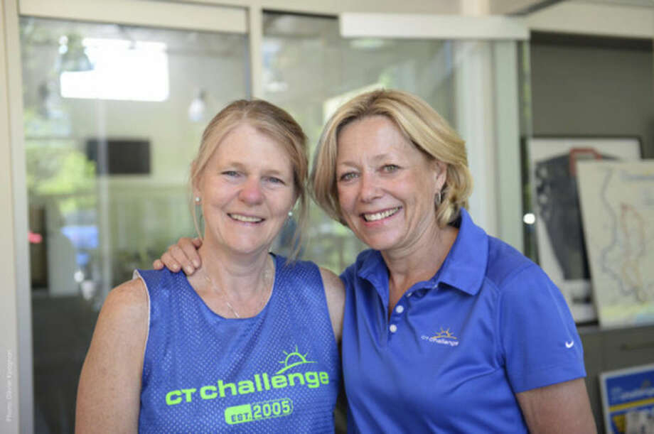 Contributed photoJoyce Quinlan, left, with Lee Crouch, the Director of Development, also a cancer survivor who is riding in the CT Challenge.