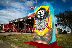 Location: S Post Oak @ Prudence (Fire Station 59)      Artist: Pilot FX