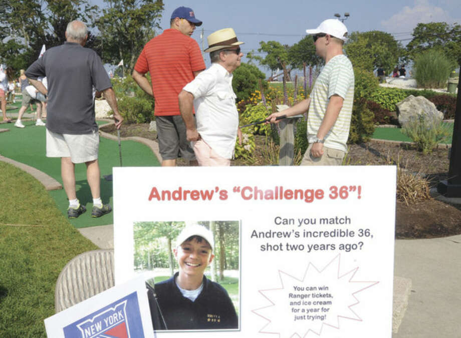 Andrew's Army Miniature Golf Classic was held at Norwalk Cove Marina Sunday to raise funds for neuroblastoma research. Westport's Andrew Accardi, 20, died in 2013 of the disease.