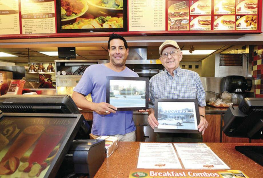 Hour photo / Erik TrautmannDuchess owners Michael Berkowitz and Sid Fialk mark the restaurant's 50th year in Norwalk.