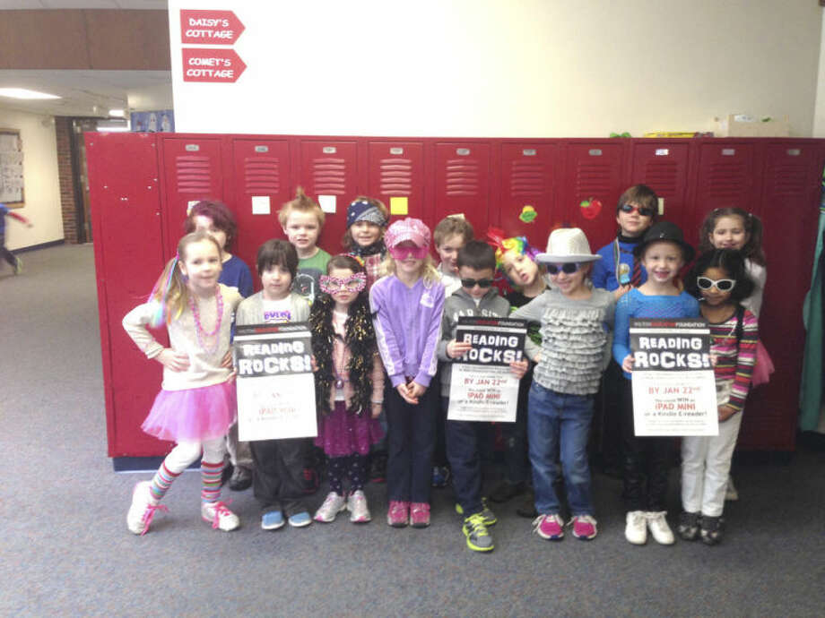Submitted photoOver 1,100 Wilton students came out to support the Wilton Education Foundation in its annual Reading Rocks fundraiser.