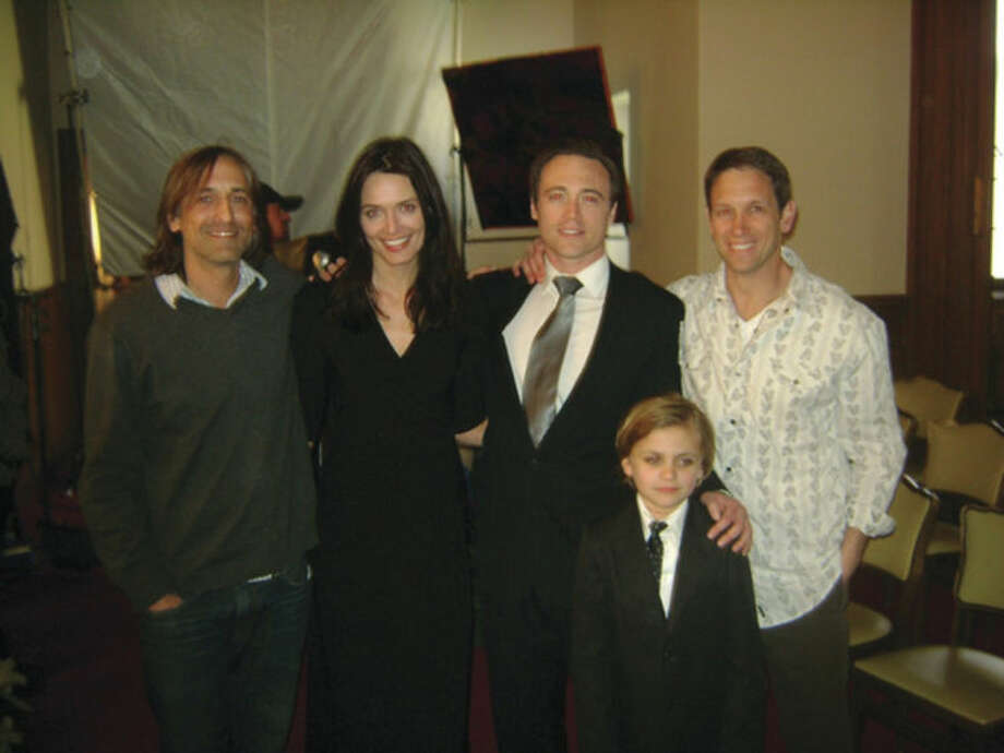 Contributed photoFrom left to right, Greg Friedle (director), Daniella Van Graas (Heather), Kevin O'Donnell, Steve Grimaldi, and Vincent Pavonetti (Kevin Hawkins).