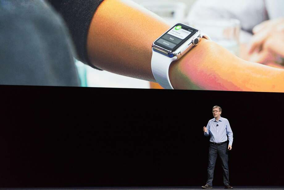 Kevin Lynch addresses the audience regarding the Apple Watch during the Apple World Wide Developers Conference at the Bill Graham Civic Auditorium in San Francisco, Calif. on Monday, June 13, 2016. Photo: James Tensuan, Special To The Chronicle