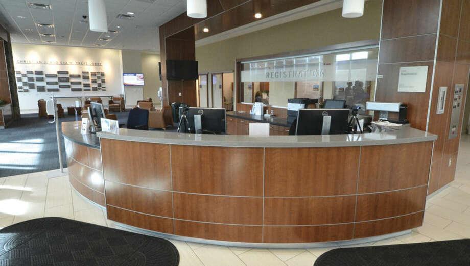 Hour Photo/Alex von Kleydorff The reception area at the Anne P. and Harold W. McGraw Jr. Center at Norwalk Hospital