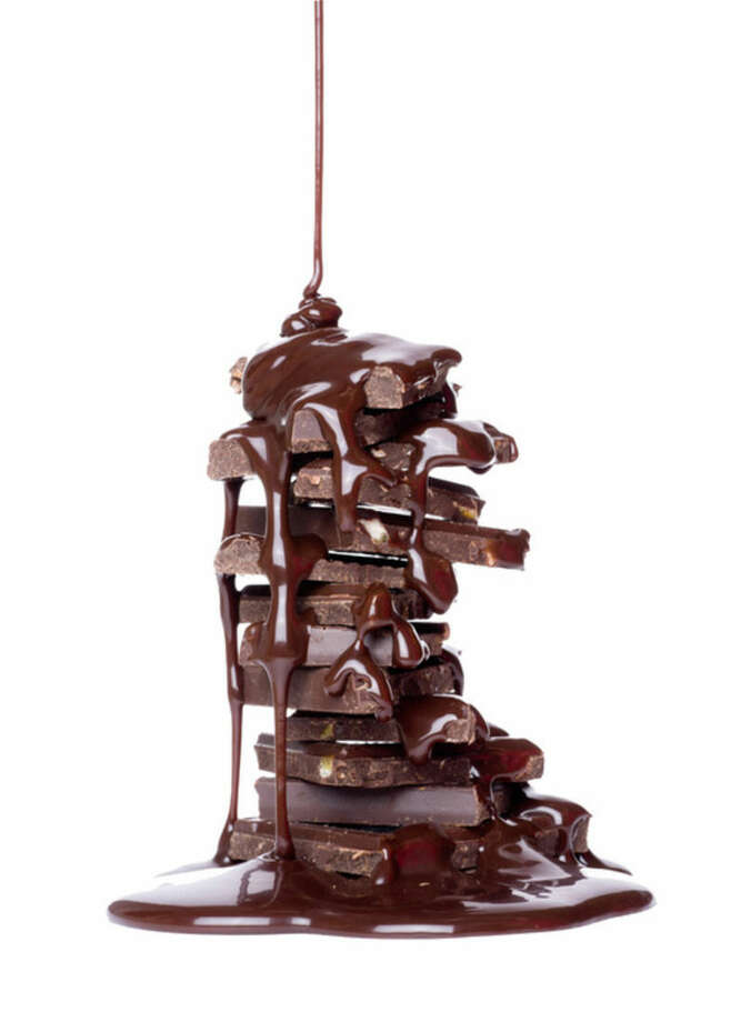 Chocolates on a light background