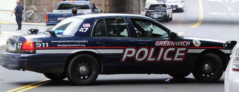 Greenwich Police file photo. Photo: Bob Luckey / Bob Luckey / Greenwich Time