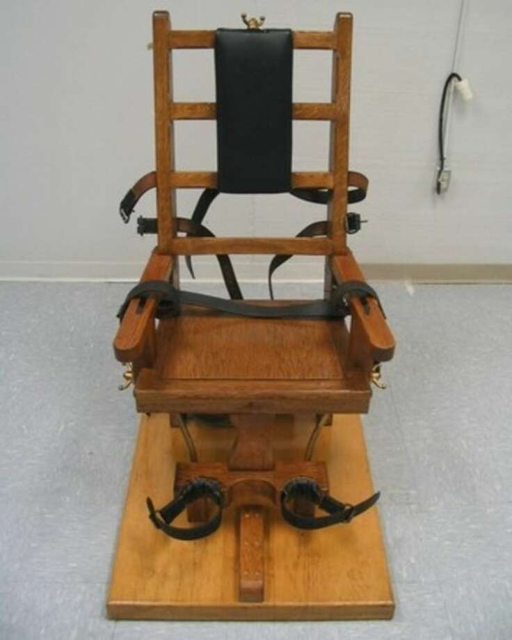 FILE - This undated file photo provided by the Virginia Department of Corrections shows an electric chair which Virginia provides as an alternative to lethal injection. With lethal-injection drugs in short supply and new questions looming about their effectiveness, lawmakers in some death penalty states are considering bringing back relics of a more gruesome past including the electric chair. (AP Photo/Virginia Department of Corrections, File)