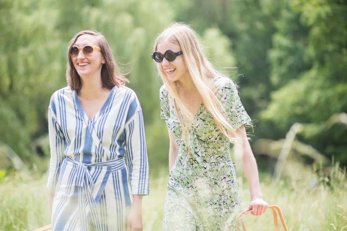 Hanna Martin, Aliza Sena at the Philip Johnson Glass House's annual Summer Party in New Canaan on June 11, 2016. The event featured a picnic by Schoolhouse at Cannondale in Wilton, music by DJ Mia Moretti, classic lawn games like chess and ping-pong and art collections on view. Were you SEEN?