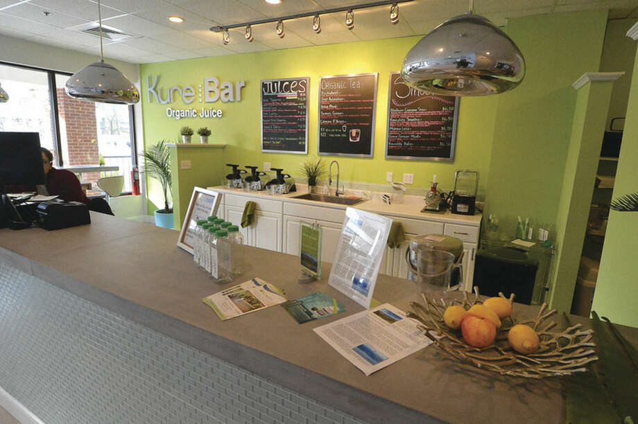 Hour Photo/Alex von Kleydorff All organic and fresh made Juices. Tea's and Smoothies at Kure Bar inside Kure Spa on Main Ave. Norwalk