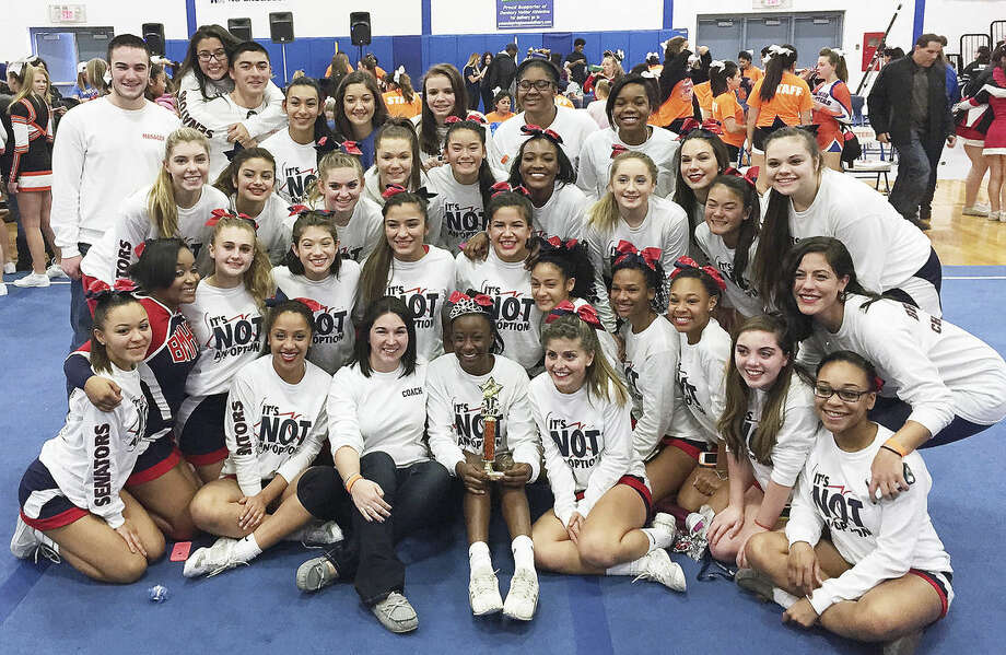Brien McMahon cheer team places third