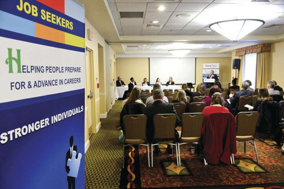 Hour photo / Erik Trautmann Workplace Inc. held the second of it's Workforce Forum Series, Retail and Hospitality, at the Hilton Garden Inn Thursday morning.