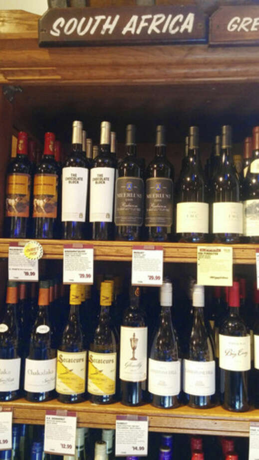 Photo by Frank WhitmanSouth African wines at Stew Leonard's.