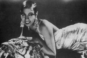 "Josephine Baker, the American-born musical star who became a sensation in Paris in the '20s and beyond, stars in two French-language muscials being revived at the Grand Illusion, Below is the Tunisia-films ""Princess Tam Tam"""