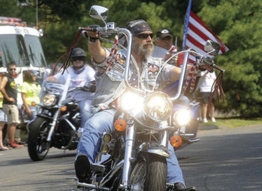 In this file photo, The 15th Annual CT United Ride, CT's largest 9/11 Tribute in New England takes off from Norden Place in Norwalk on Sunday. Hour photo/Matthew Vinci