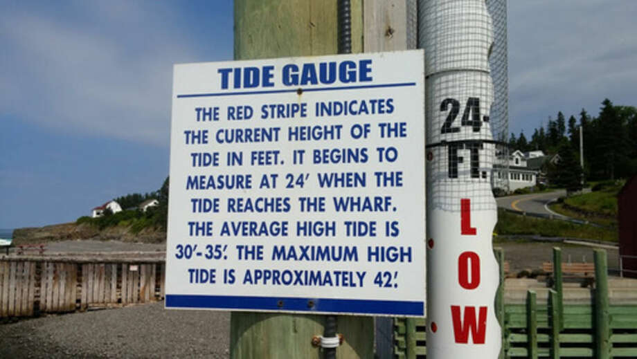 Photo by Frank WhitmanHall's Harbour tide gauge.