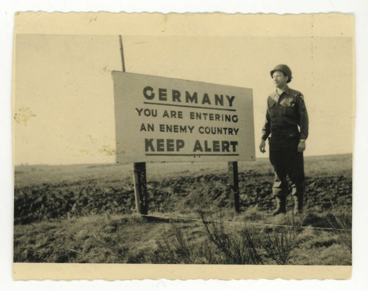 AP Photo/Courtesy Bernard Dargols' family This photo dated Dec. 1944, provided by Dargols' family shows Bernard Dargols near Aachen in Germany. When he left Paris at age 18, the plan was to go to New York for a year and learn his father' sewing machine trade.