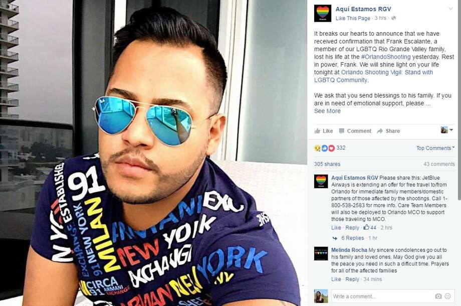 Frank Hernandez, a 27-year-old originally from Weslaco, was killed in an attack on an Orlando night club early Sunday morning. It was the deadliest mass shooting in the nation's history. Photo: Facebook