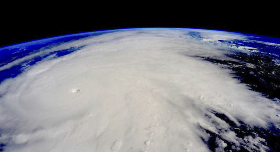 This image taken Friday, Oct. 23, 2015, from the International Space Station shows Hurricane Patricia. The Category 5 storm, the strongest recorded in the Western Hemisphere, barreled toward southwestern Mexico Friday. (Scott Kelly/NASA via AP)