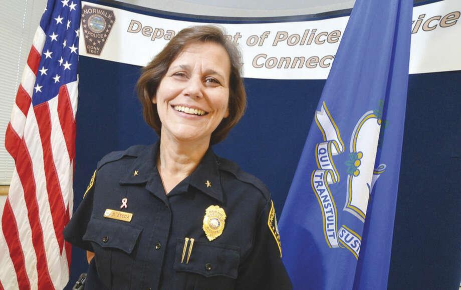 Hour photo/Alex von KleydorffNorwalk Deputy Chief of Police Susan Zecca.