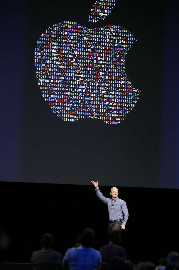 Apple CEO Tim Cook waves to the crowd at the end of his keynote speech at the Apple Worldwide Developers Conference in the Bill Graham Civic Auditorium in San Francisco on June 13, 2016. The company may unveil a new speaker to work with its voice assistant Siri at the 2017 developer conference this week. Photo: Tony Avelar, Associated Press