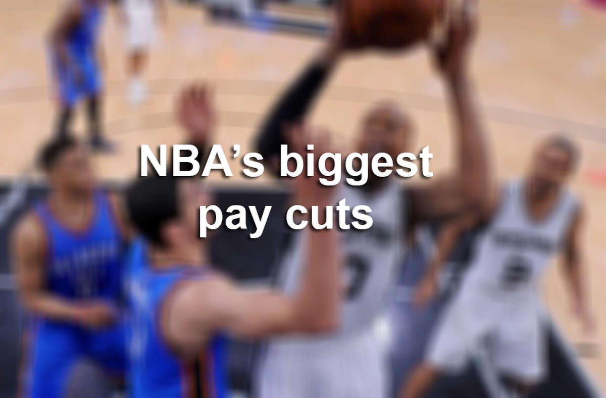 Scroll ahead to see NBA's biggest pay cuts in 2015-16.
