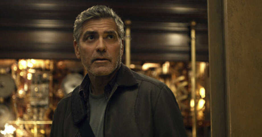 "This photo released by Disney shows, George Clooney, as Frank Walker, in a scene from Disney's ""Tomorrowland."" The film released in U.S. theaters May 22, 2015. (Film Frame/Disney via AP)"
