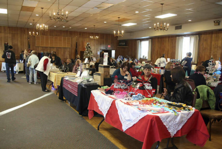 The scene of the American Legion Holiday Fair on County Street in Norwalk Sunday afternoon.Hour Photo / Danielle Calloway