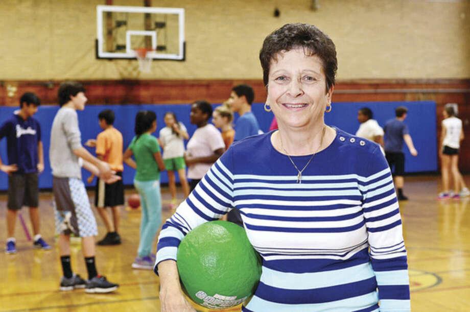 Hour photo / Erik Trautmann Jan Folchetti, who was selected Middle School Physical Education Teacher.