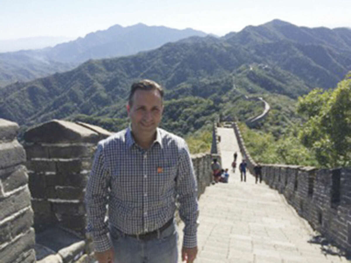 Contributed photo State Sen. Bob Duff visited China last month as part of a bi-partisan delegation. Duff visited the Great Wall of China and met with dignitaries.