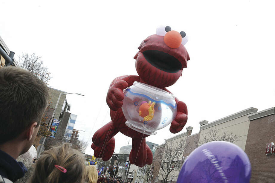 The Elmo float Sunday in Stamford at the annual UBS Thanksgiving Parade. Hour photo/Matthew Vinci