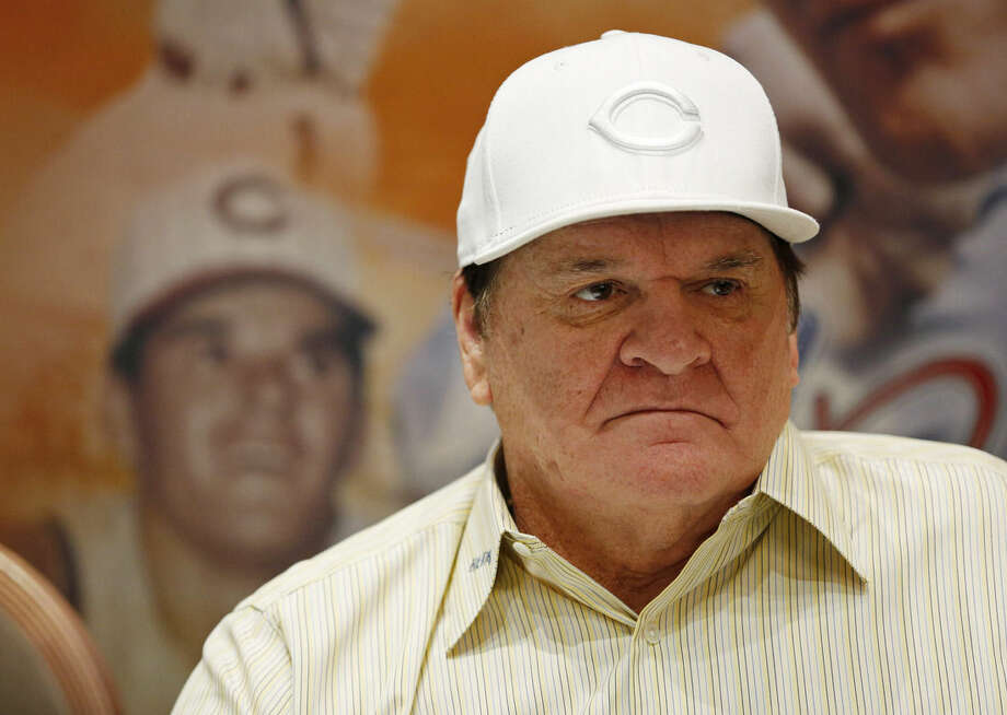 Pete Rose appears at an autograph signing event Monday, Dec. 14, 2015, in Las Vegas. Baseball Commissioner Rob Manfred has rejected Rose's plea for reinstatement, citing his continued gambling and evidence that he bet on games when he was playing for the Cincinnati Reds. (AP Photo/John Locher)