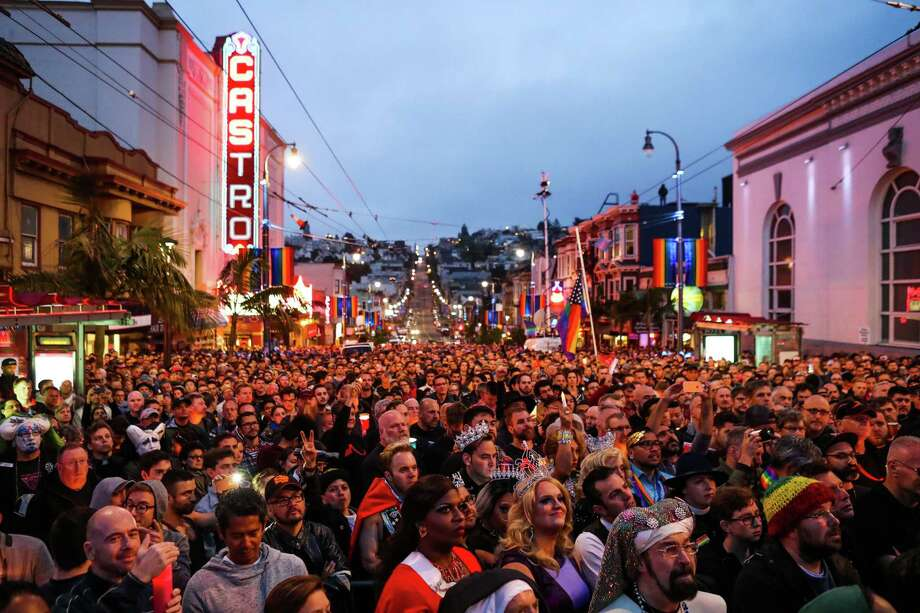Hundreds of people gather in San Francisco's Castro District for an Orlando vigil. Photo: Gabrielle Lurie / Special To The Chronicle / ONLINE_YES