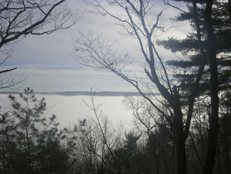 Photo by Rob McWilliamsThe Housatonic River Vallley filled with fog.