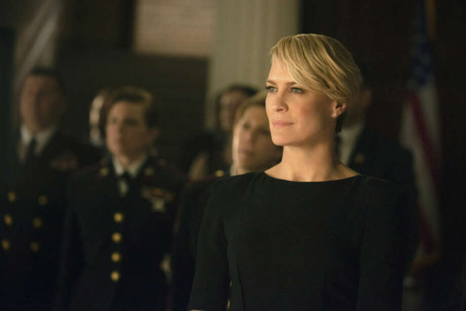 """AP Photo/Netflix, Nathaniel E. BellThis image released by Netflix shows Robin Wright as Clair Underwood in a scene from """"House of Cards."""" The second season of the popular original series premieres on Friday, Feb. 14, 2014 on Netflix."""