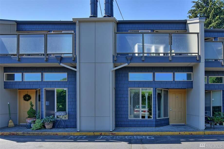 The first condo, at 5847 N.E. 75th St. Unit A 103, is listed for $215,000. The one-bedroom, one-bathroom condo is 769 square feet and is on the ground floor. It has 10-foot-tall ceilings, new quartz kitchen counter tops and a wood-burning fireplace.You can see the full listing here. Photo: Pete Keating, Windermere Real Estate HKW, Inc.
