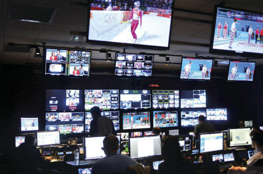 Hour photo / Erik TrautmannNBC Sports in Stamford broadcasts comprehensive coverage of the Sochi Winter Olympics around the world from their facility in Stamford.