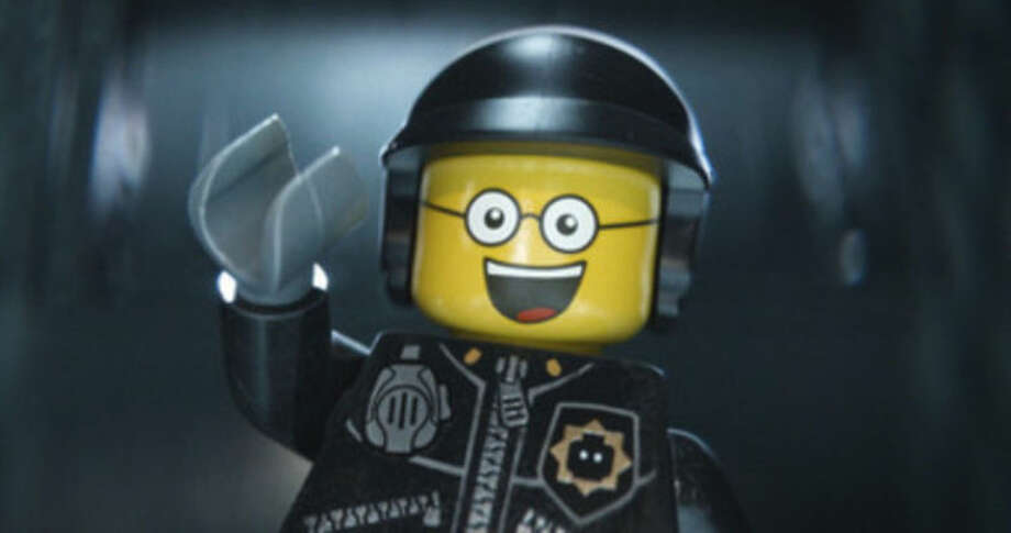 "This image released by Warner Bros. Pictures shows the character Bad Cop/Good Cop, voiced by Liam Neeson, in a scene from ""The Lego Movie."" ""The Lego Movie"" is expected to take the top spot at the box office in its second weekend. (AP Photo/Warner Bros. Pictures, file)"