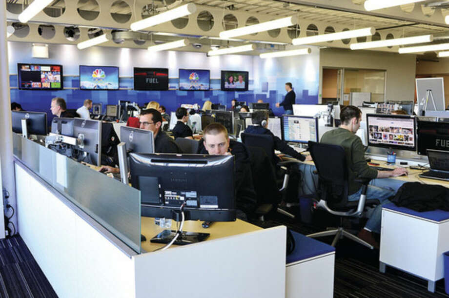 Hour photo / Erik Trautmann NBC Sports in Stamford broadcasts comprehensive coverage of the Sochi Winter Olympics around the world from the facility their Stamford.