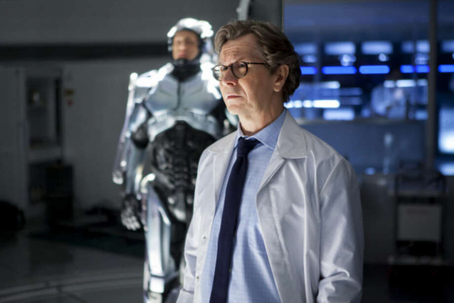"""AP Photo/Columbia Pictures - Sony, Kerry HayesThis image released by Columbia Pictures shows Gary Oldman in a scene from the film, """"RoboCop."""""""