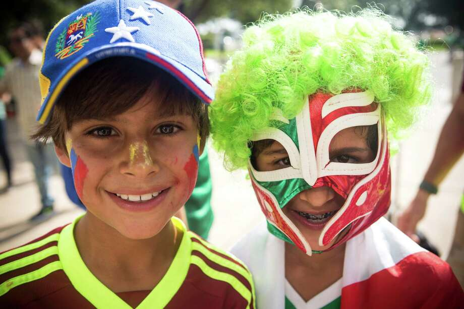 Soccer fans arrive outside NRG Stadium before the Copa America match between Mexico and Venezuela on Monday, June 13, 2016, in Houston. Photo: Brett Coomer, Houston Chronicle / © 2016 Houston Chronicle