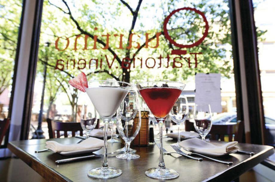 Hour photo / Erik Trautmann White Chocolate and Fig Martinis at the new restaurant, Quartino Trattoria & Vineria, located on Washington St in SoNo.
